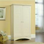 Almari Baju Pintu 2 Warna Putih Duco