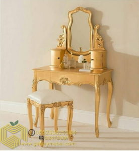 Set Meja Rias Klasik Gold