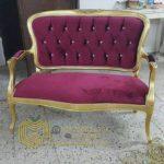 Bangku Sofa Klasik Duco Gold