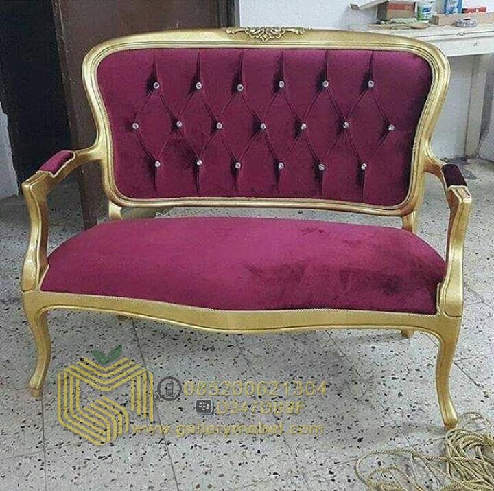 Bangku Sofa Klasik Duco Gold Gallery Mebel