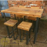 Set Stool dan Meja Cafe Antik